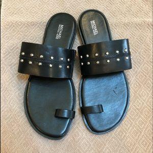 Michael Kors Black Studded Sandals